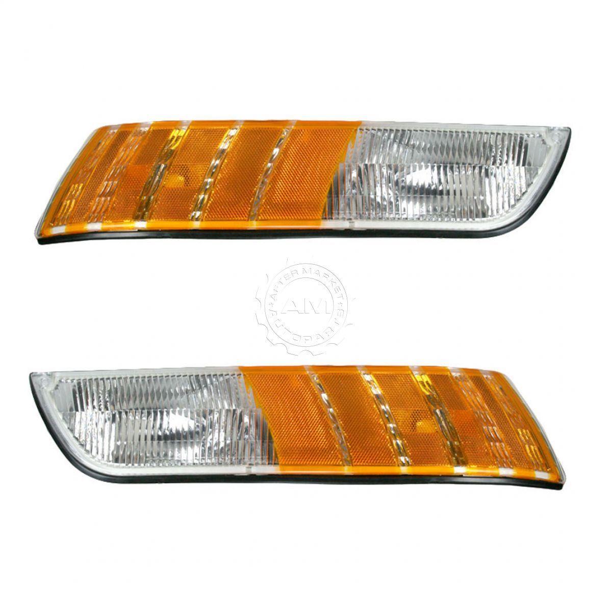 コーナーライト Parking Light Pair for Grand Marquis 92-94 w/ Corner Light コーナーライト付きグランドマーキス92-94の駐車ライトペア