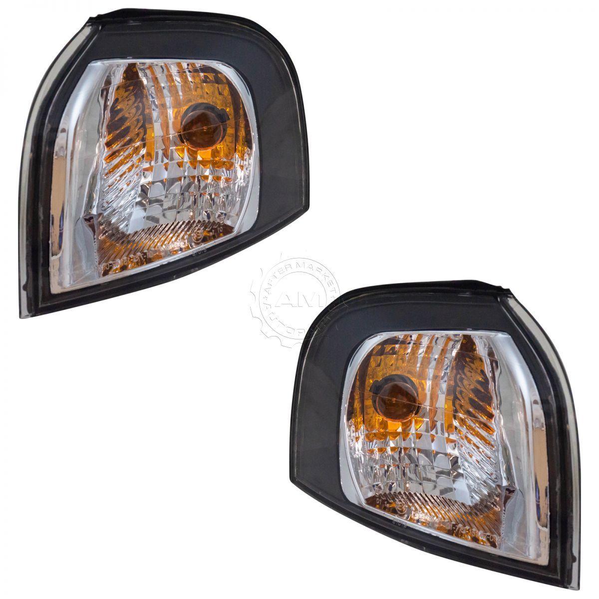 コーナーライト Side Corner Marker Parking Turn Signal Lights Lamps Pair Set for S60 S80 V70 サイドコーナーマーカーパーキングターンシグナルランプランプペアS60 S80 V70用