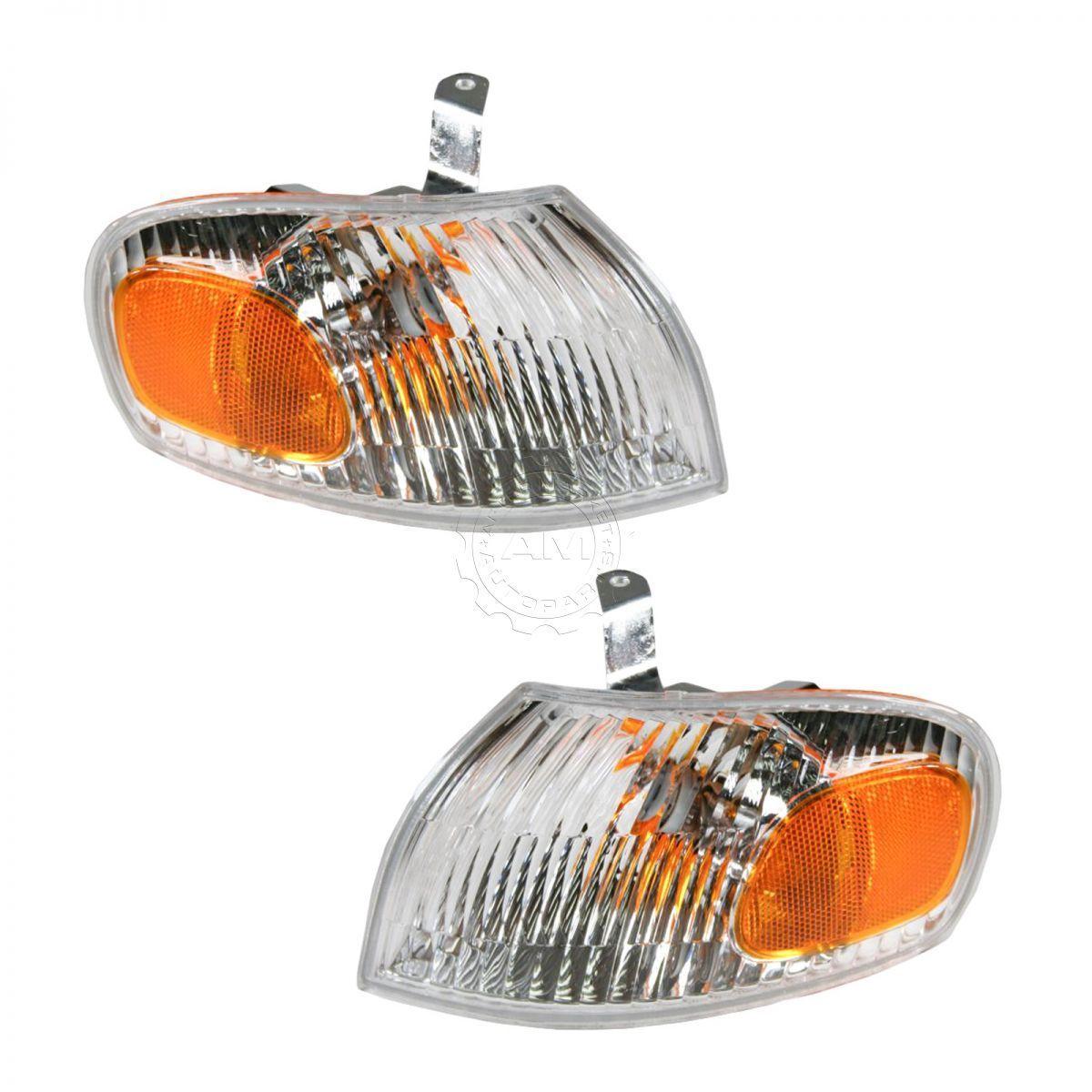 コーナーライト Side Marker Turn Signal Corner Parking Lamp Light Pair Set for 98-02 Chevy Prizm サイドマーカーターンシグナルコーナーパーキングランプライトペアは98-02シボレーPrizm用に設定