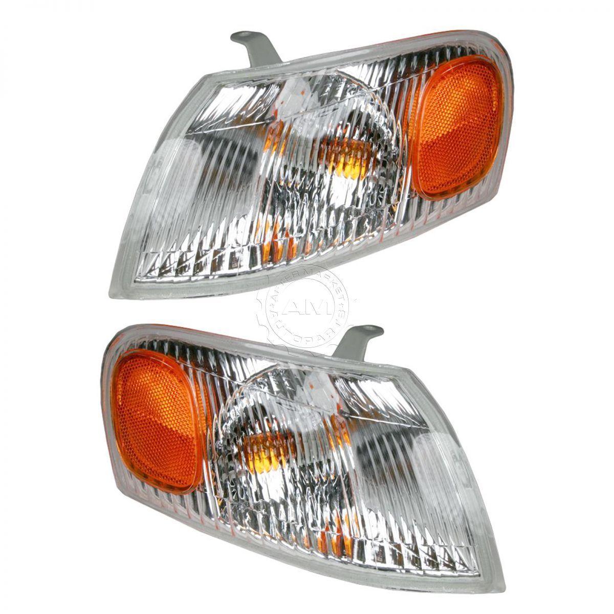 コーナーライト Corner Parking Side Marker Turn Signal Lights Pair Set for 98-00 Toyota Corolla コーナーパーキングサイドマーカーターンシグナルライトペア98-00用トヨタカローラ