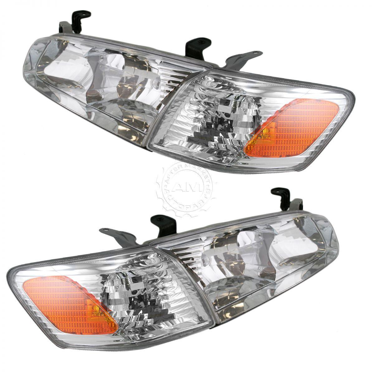 コーナーライト Headlight Headlamp Corner Light Lamp Kit Set of 4 for 00-01 Toyota Camry NEW 00-01トヨタカムリ用ヘッドライトヘッドランプコーナーライトランプキット4点セットNEW