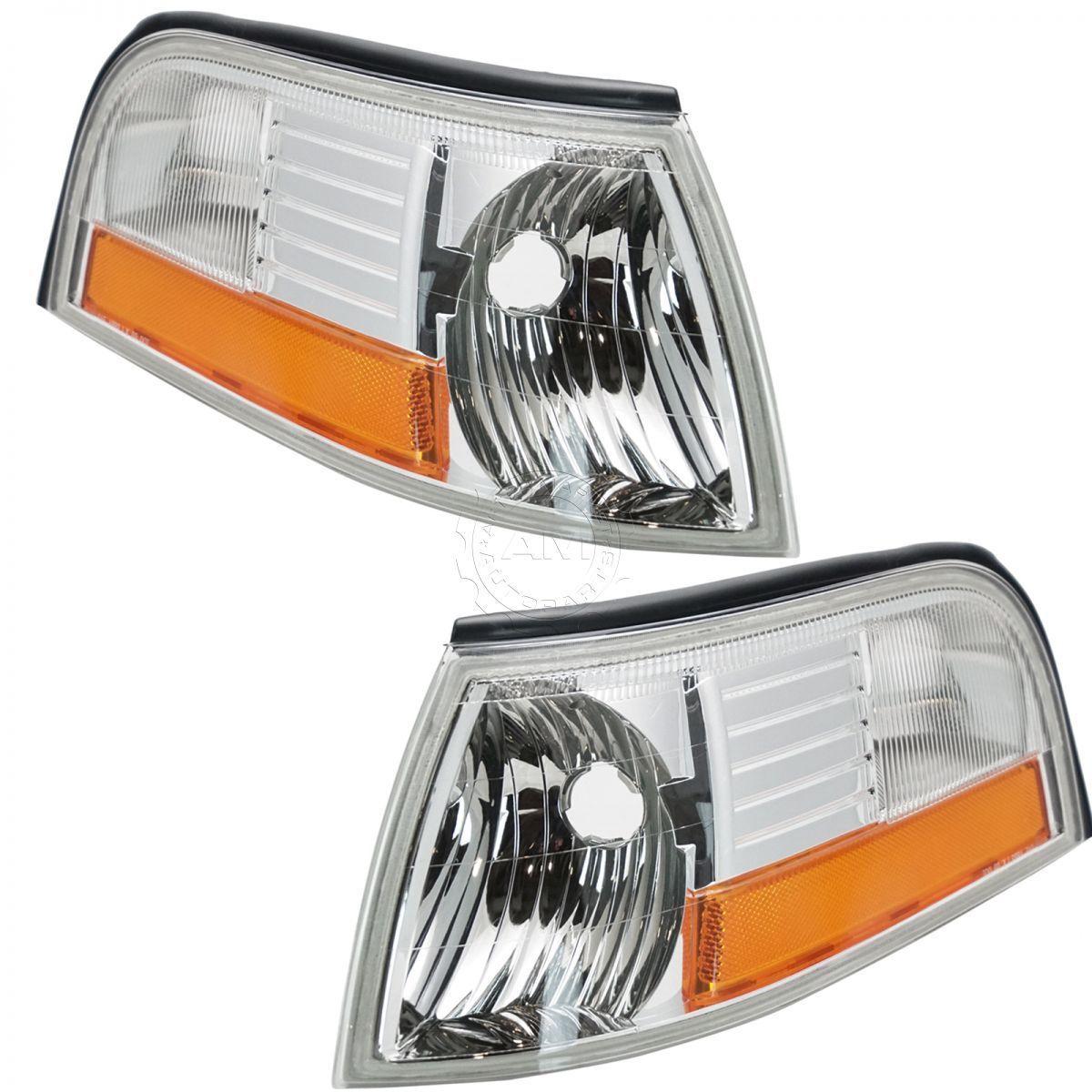 コーナーライト Corner Side Marker Parking Signal Light Lamp Pair Set for 03-05 Mercury Marquis コーナーサイドマーカーパーキング信号ライトランプペアは03-05に設定マーキュリーマーキス