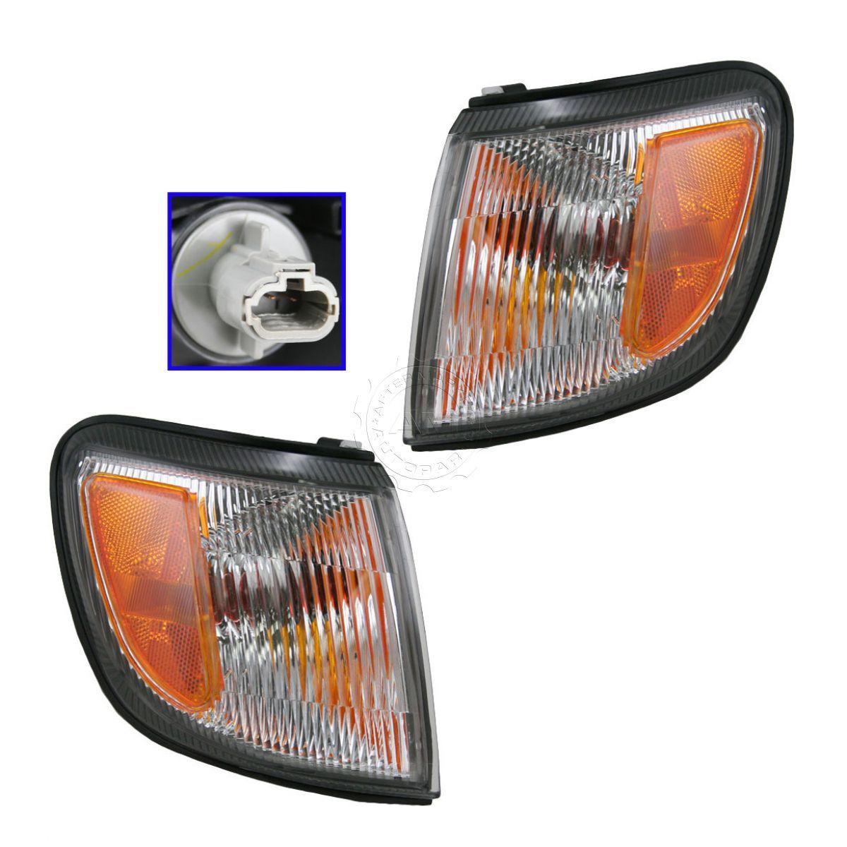 コーナーライト Front Side Marker Corner Turn Signal Light Lamp Pair Set for Subaru Forester フロントサイドマーカコーナーターンシグナルライトランプペアスバルフォレスターセット