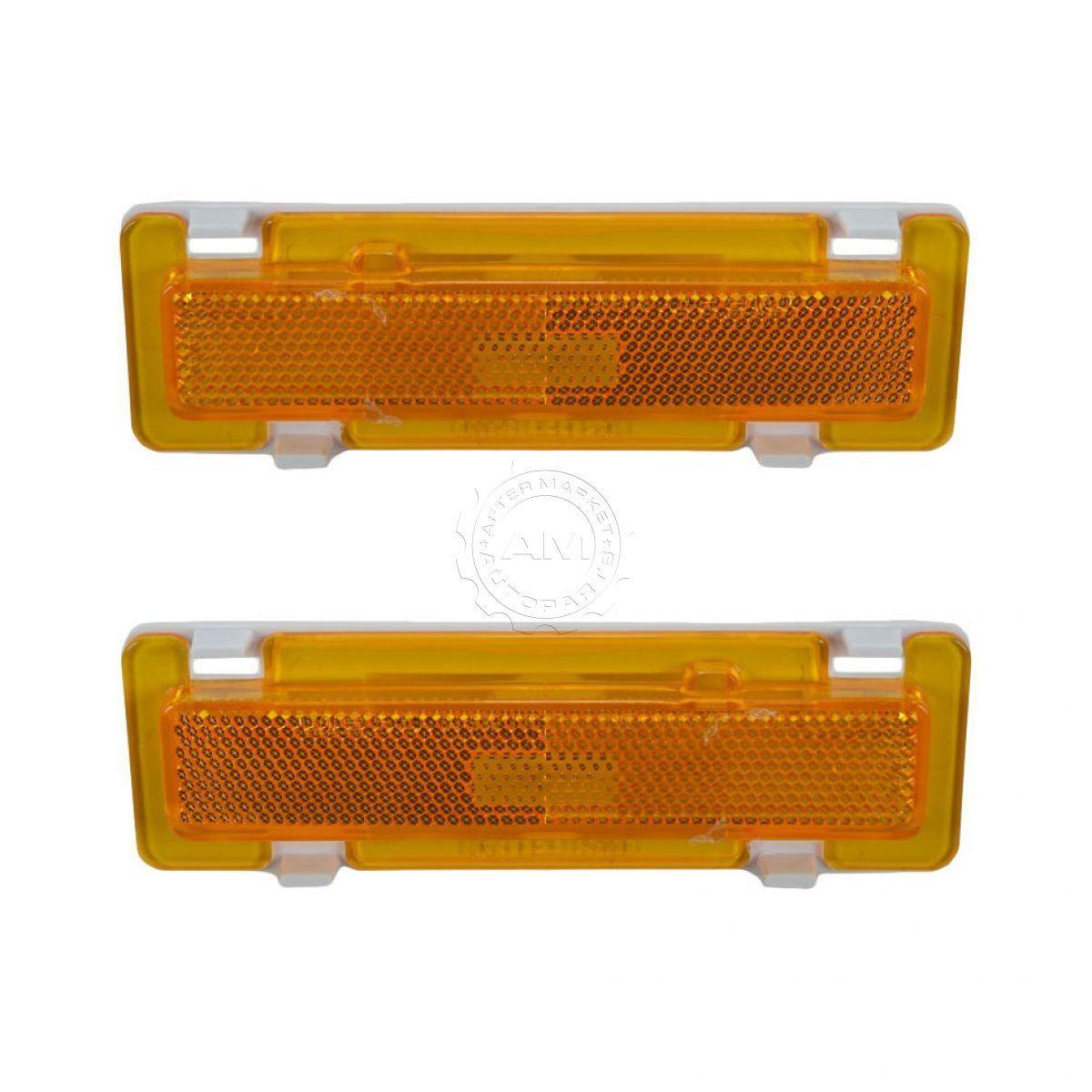 コーナーライト Side Marker Signal Corner Parking Light Pair Set for Camaro Firebird Trans Am サイドマーカー信号コーナーパーキングカマロファイヤーバードトランスアム用ライトペアセット