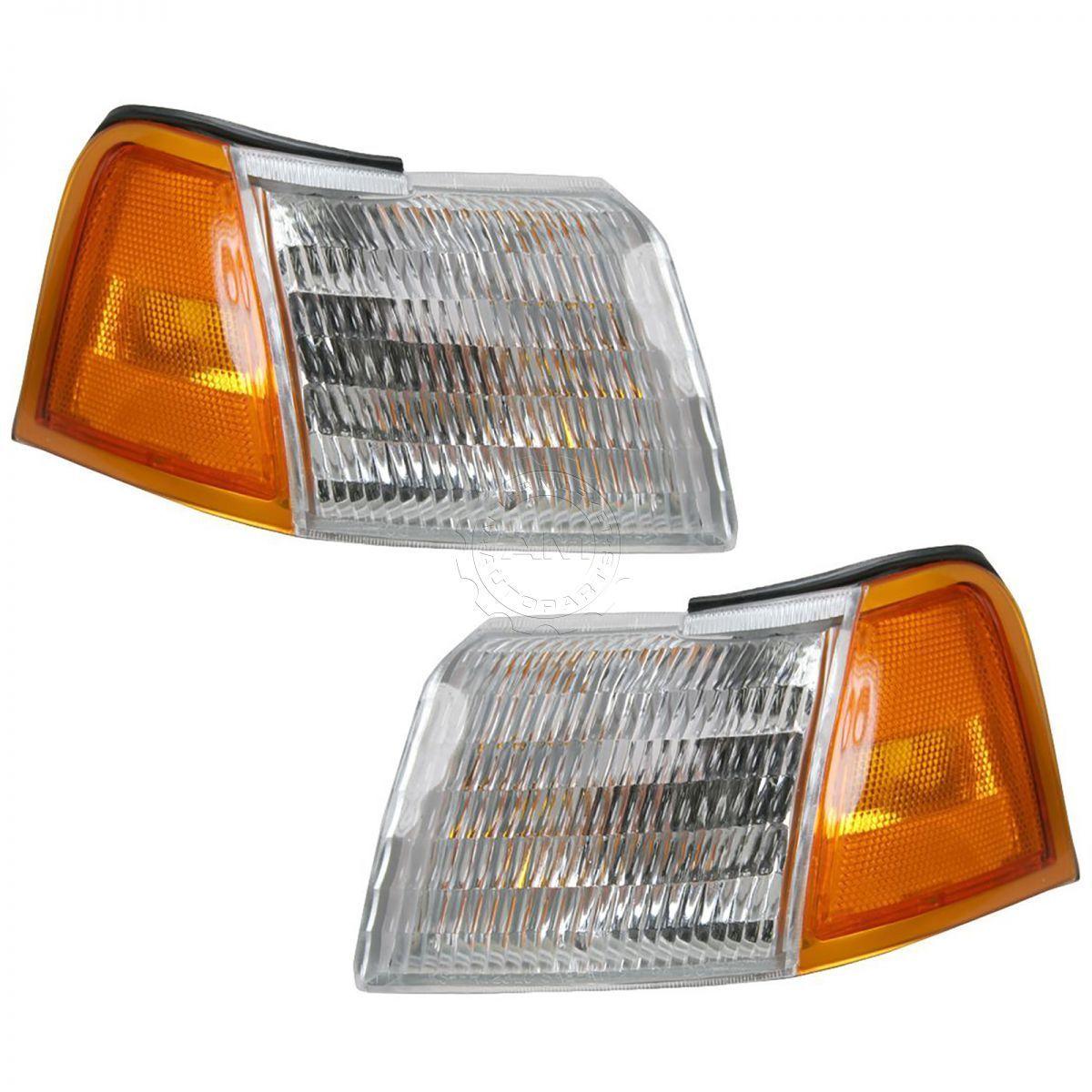 コーナーライト Corner Side Marker Parking Turn Signal Light Lamp Pair Set for 89-95 Cougar コーナーサイドマーカーパーキングターンシグナルランプライトペア、89-95クーガー用