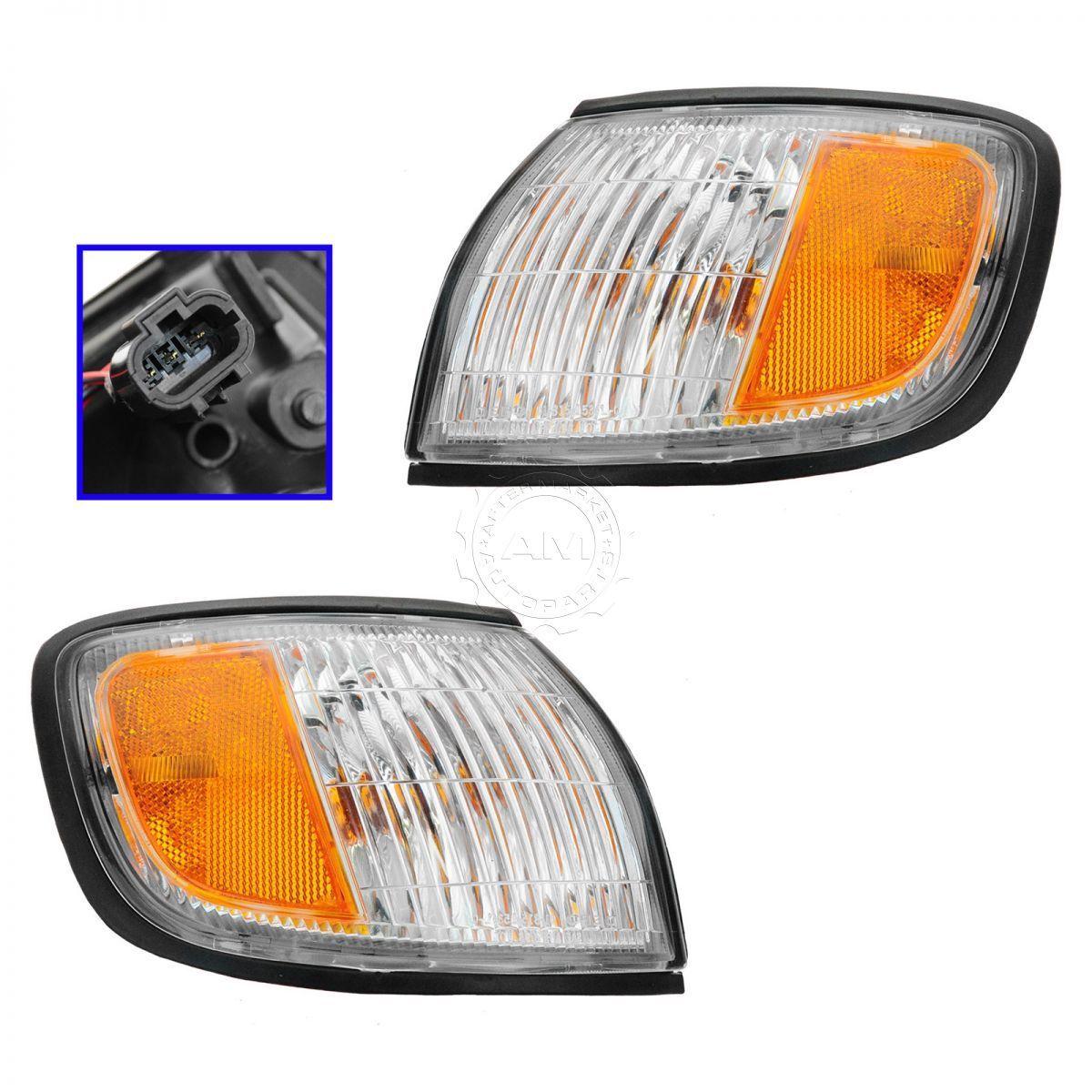 コーナーライト Parking Lights Corner Lamps Left & Right Pair Set for 98-99 Infiniti I30 パーキングライトコーナーランプ左& 98-99インフィニティI30の右ペアセット