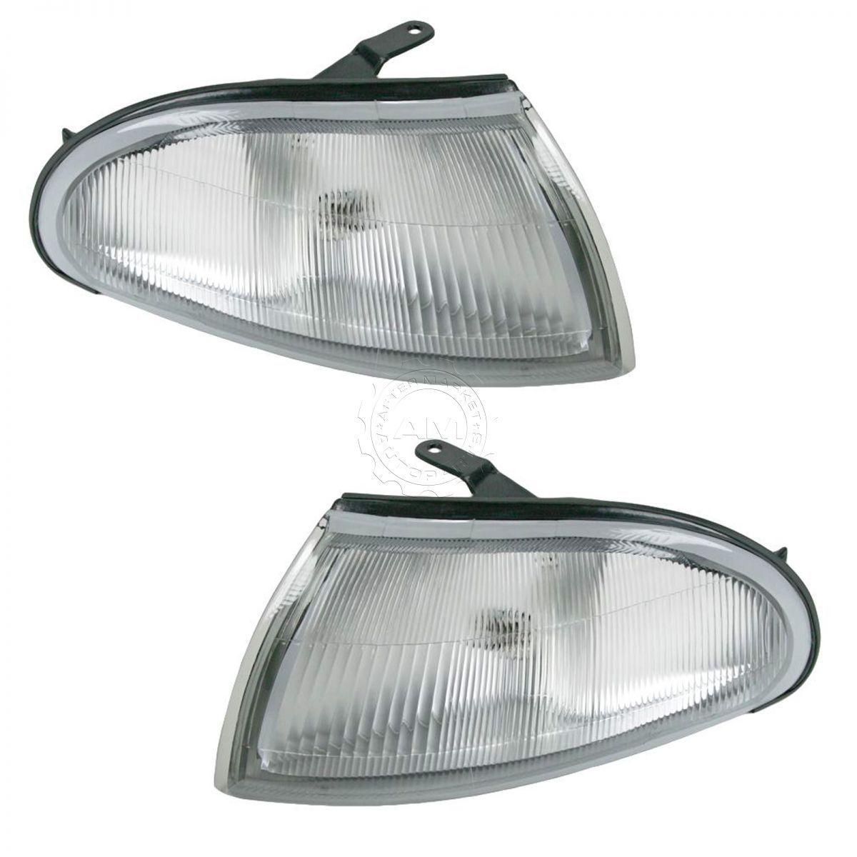 USコーナーライト Corner Side Marker Turn Signal Parking Light Lamp Pair Set for 93-97 Prizm コーナーサイドマーカーターンシグナル93-97 Prizm用駐車ライトランプペアセット