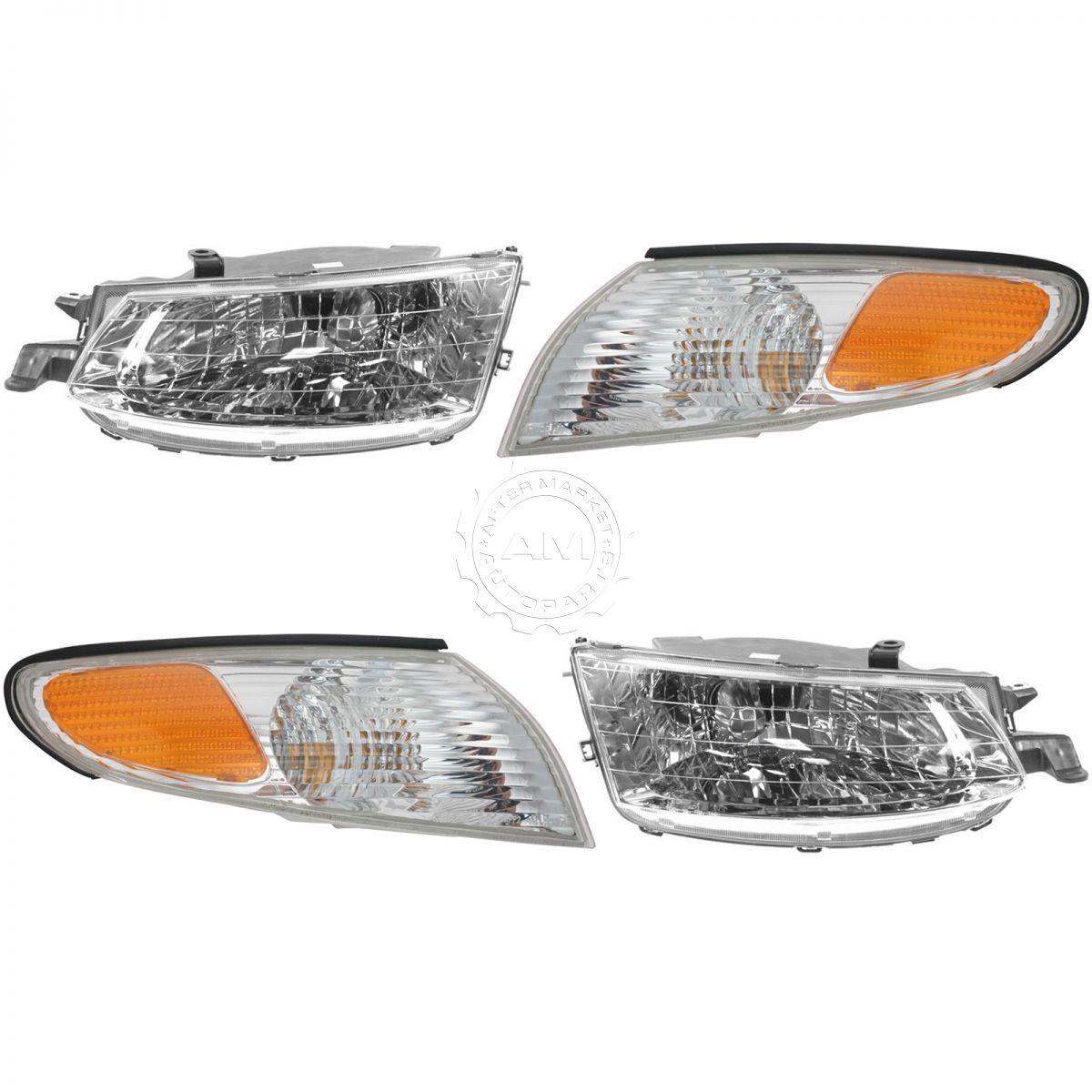 コーナーライト Headlight Headlamp Corner Light Lamp Kit Set of 4 for 99-01 Toyota Solara NEW トヨタソララ99-01用ヘッドライトヘッドランプコーナーライトランプキット4点セットNEW