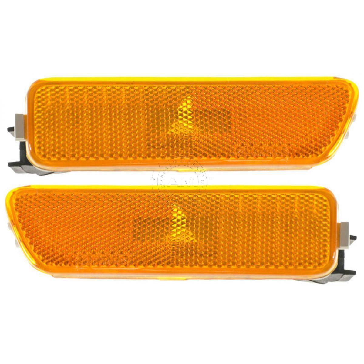 コーナーライト Side Marker Parking Turn Signal Corner Light Lamp Front Pair Set for Jetta Golf サイドマーカーパーキングターンシグナルコーナーライトランプフロントペアジェッタゴルフ用