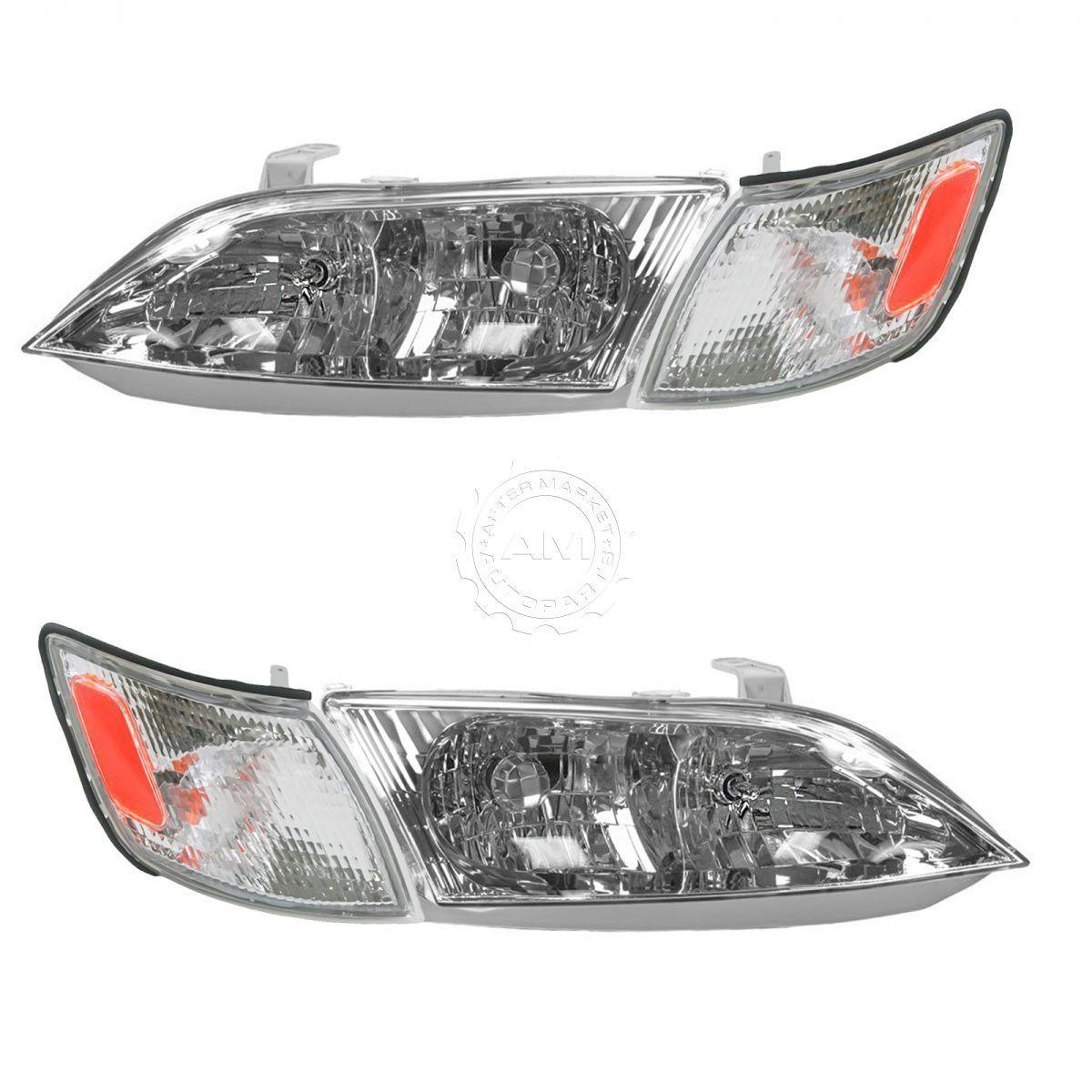コーナーライト Headlight Headlamp Corner Light Lamp Kit Set of 4 for 97-99 Lexus ES300 NEW ヘッドライトヘッドランプコーナーライトランプキット、97-99 Lexus ES300用4点セットNEW