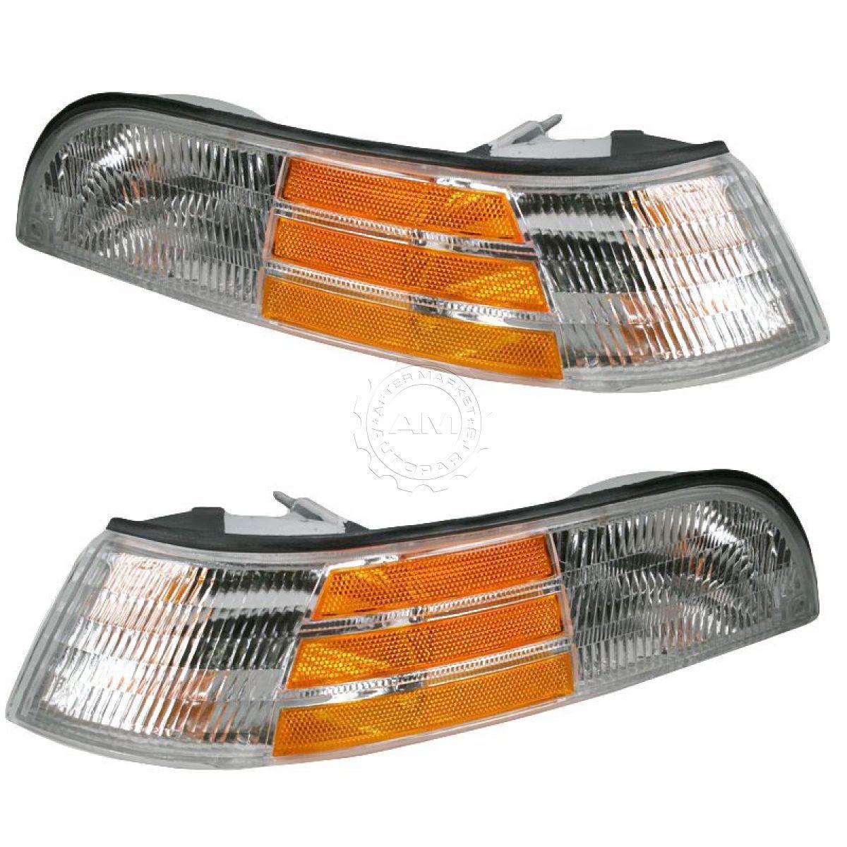 コーナーライト Corner Parking Turn Signal Lights LH & RH Pair Set for 92-97 Crown Victoria LX コーナーパーキングターンシグナルライトLH& RHペアは92-97クラウンビクトリアLXのために設定