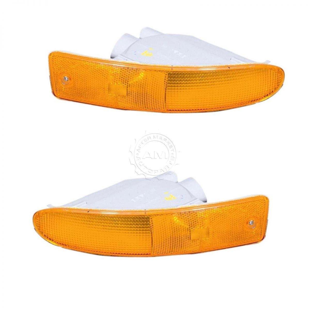 コーナーライト Marker Signal Blinker Corner Parking Light Pair Set for 00-02 Mitsubishi Eclipse マーカ信号点滅コーナーパーキングライトペア設定00-02 Mitsubishi Eclipse
