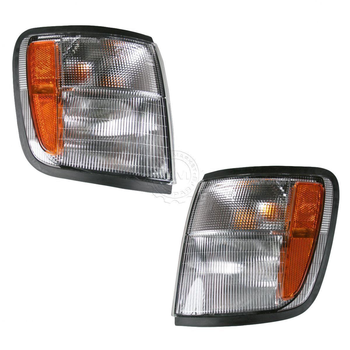 コーナーライト Turn Signal Light Pair for 98-99 Acura SLX 98-2002 Trooper 98-99 Acura SLX 98-2002トルーパー用信号灯ペア