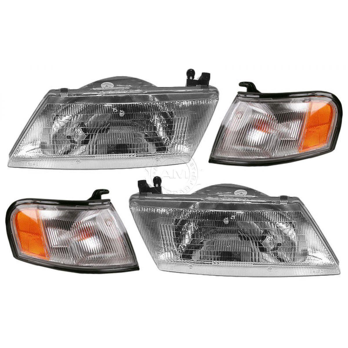 コーナーライト Headlights Headlamps & Parking Turn Corner Light Lamp Set Kit for Sentra 200SX ヘッドライトヘッドランプ& Sentra 200SX用パーキングターンライトランプセットキット