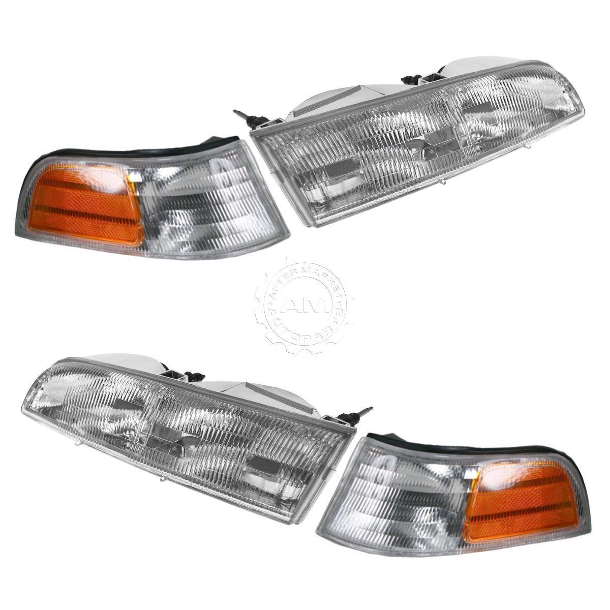 コーナーライト Headlight Headlamp Corner Light Lamp Kit Set of 4 for 92-97 Crown Victoria Base ヘッドライトヘッドランプコーナーライトランプキット92-97クラウンビクトリアベースの4のセット