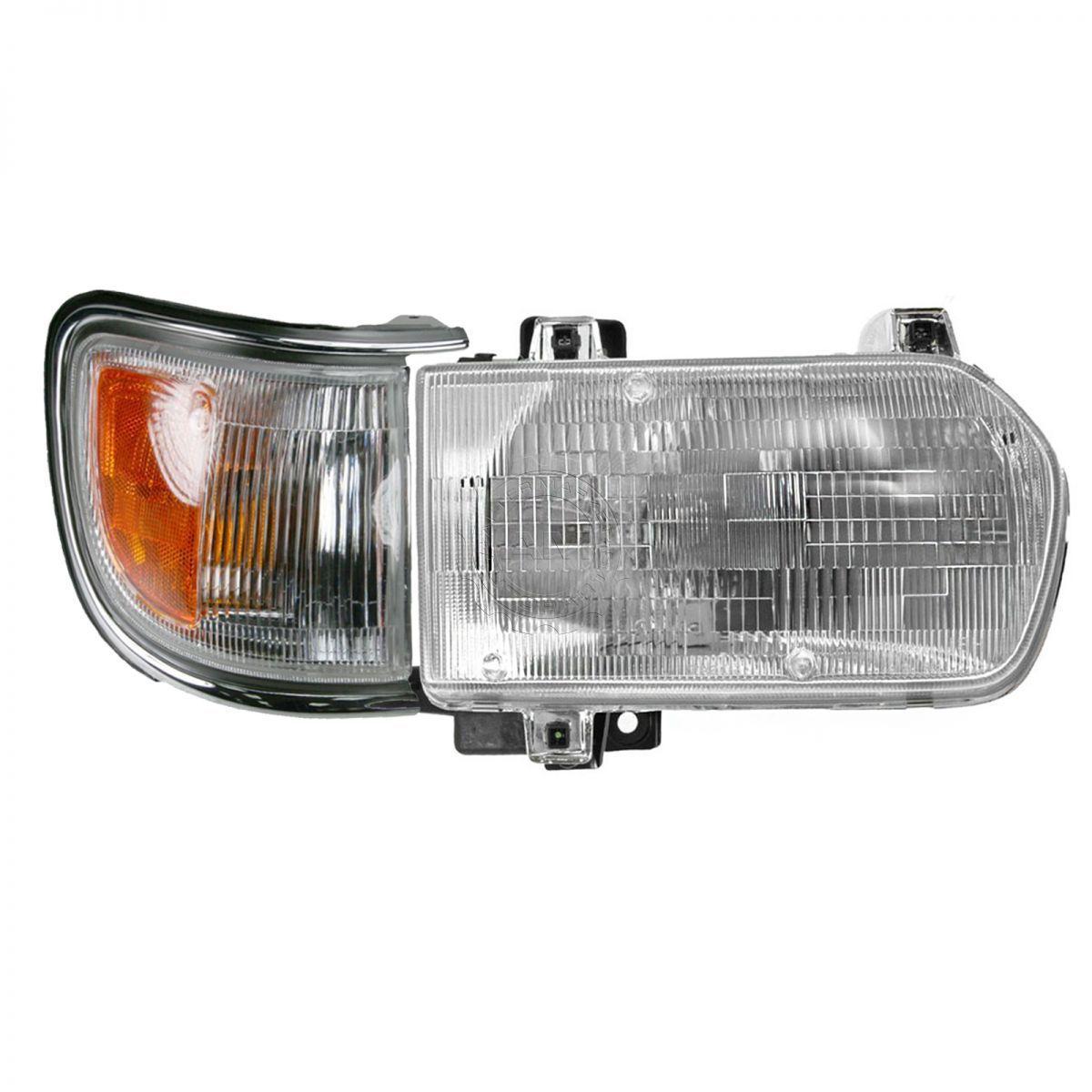 コーナーライト Headlight & Corner Light Lamp Kit Passenger RH Side for 96-99 Nissan Pathfinder ヘッドライト& コーナーライトランプキット96-99用乗用車側Nissan Pathfinder
