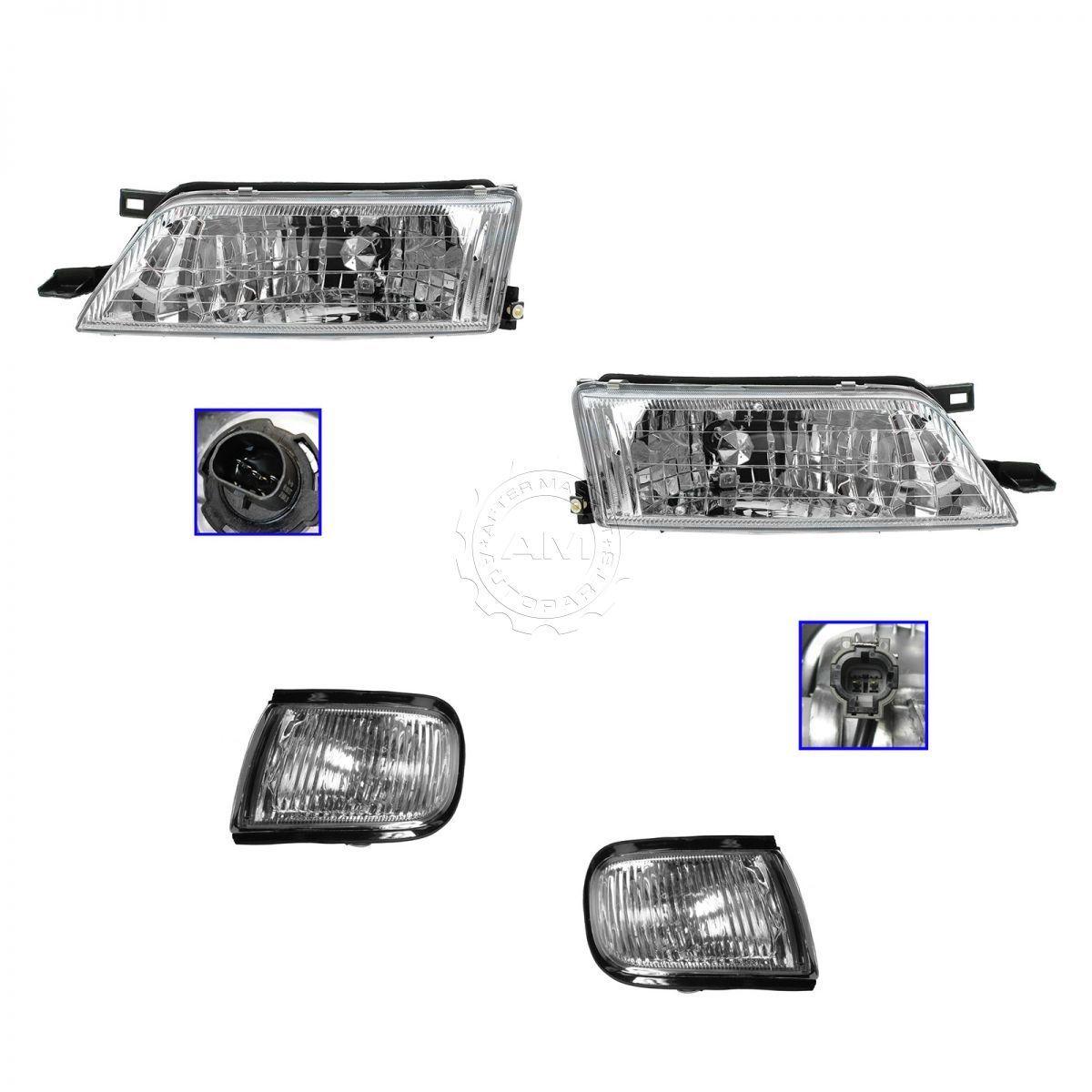 コーナーライト Headlight Headlamp Corner Light Lamp Kit Set for 97-99 Nissan Maxima 97-99日産マキシマ用ヘッドライトヘッドランプコーナーライトランプキットセット
