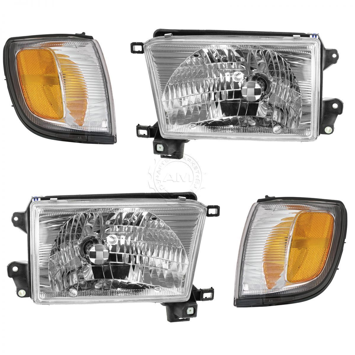 コーナーライト HeadLight Corner Light Driver Passenger Kit Set of 4 for 99-02 Toyota 4Runner 99-02トヨタ4Runnerのヘッドライトコーナーライトドライバの旅客キットセット4