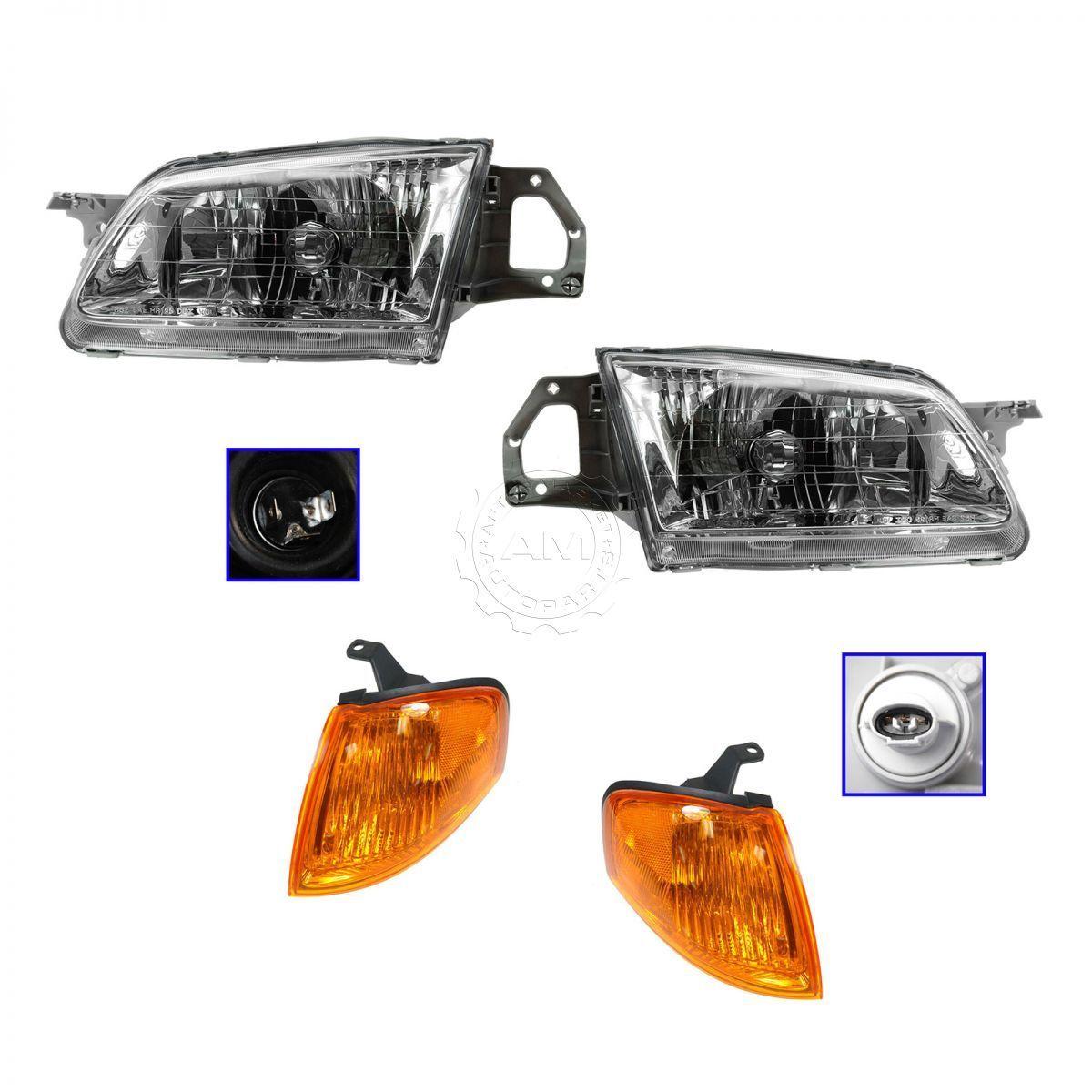コーナーライト Headlight Headlamp Corner Light Lamp Kit Set for 99-00 Mazda Protege 99-00 Mazda Protege用ヘッドライトヘッドランプコーナーライトランプキットセット