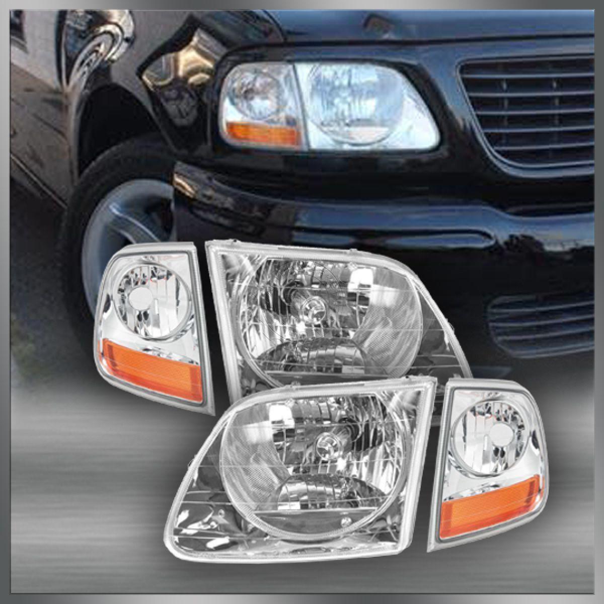 コーナーライト Lightning Style Headlights & Corner Parking Lights Kit Set for F150 Expedition ライトニングスタイルヘッドライト& コーナーパーキングライトキットF150遠征用セット