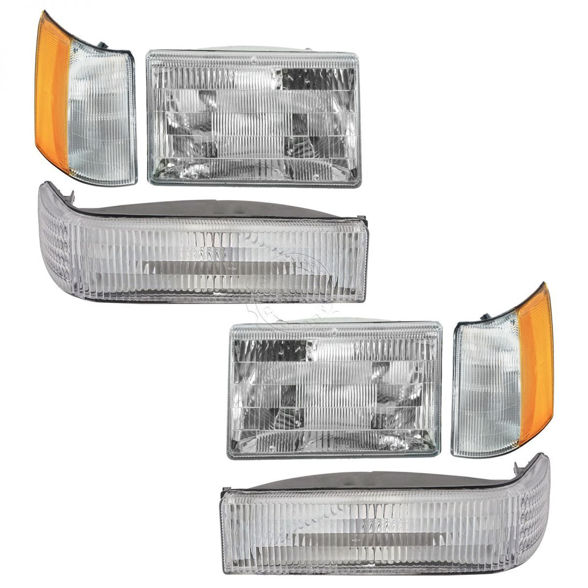 コーナーライト Headlights & Parking Corner Lights Left & Right Kit Set for 97-98 Grand Cherokee ヘッドライト& 駐車コーナーライト左& 97-98グランドチェロキーの右キットセット