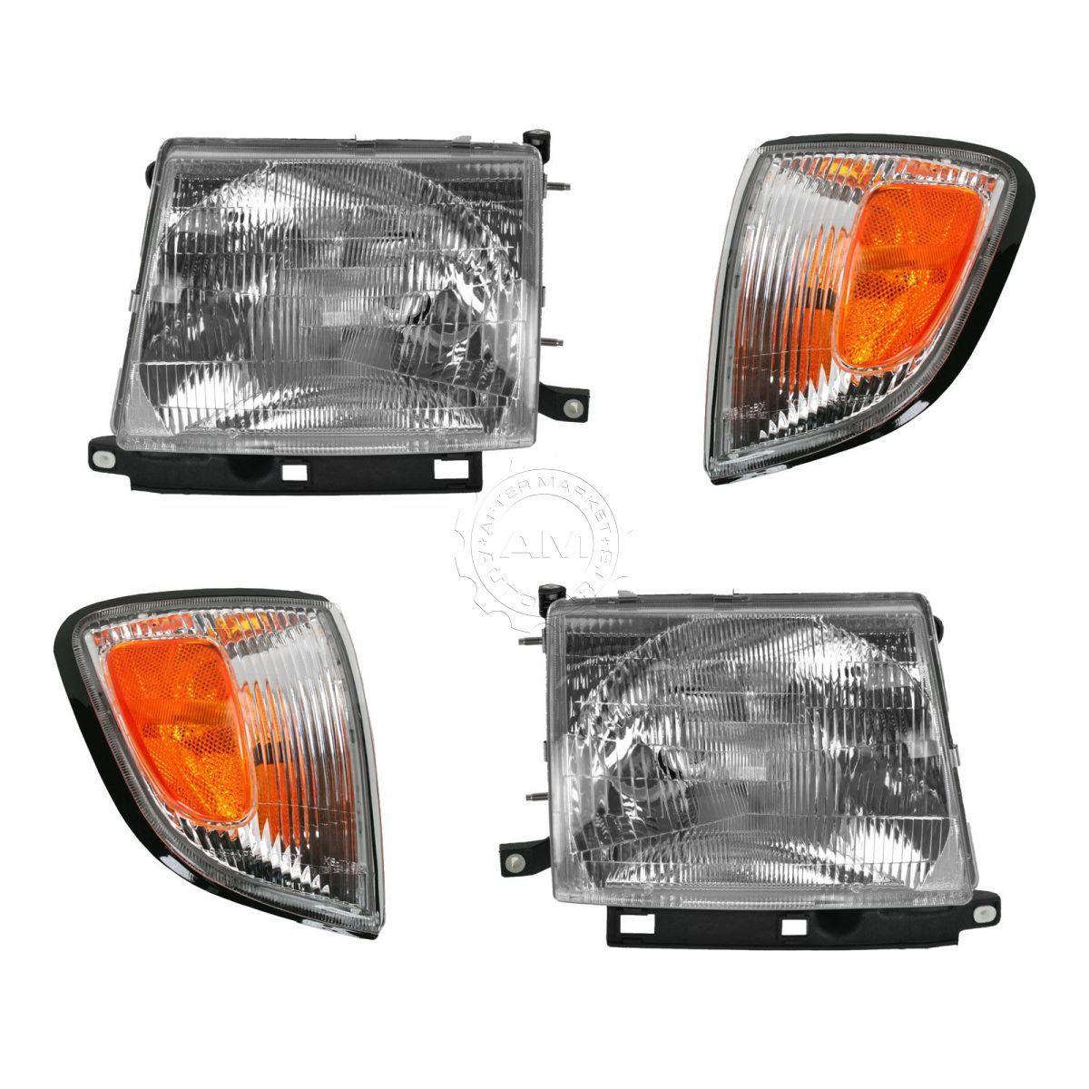 コーナーライト Headlights & Parking Corner Lights Left & Right Kit Set for 97-00 Tacoma 2WD 2x4 ヘッドライト& 駐車コーナーライト左& 97-00タコマ2WD 2x4用の右キットセット