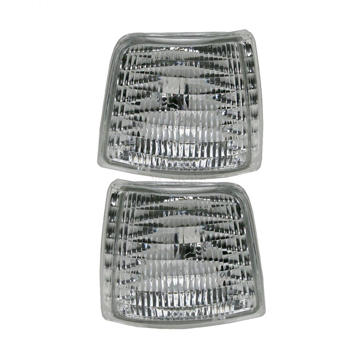 コーナーライト Corner Parking Signal Light Lamp LH & HR Pair Set of 2 for Ford Pickup Bronco コーナーパーキング信号ランプLH& フォードピックアップブロンコのHRペアペア2