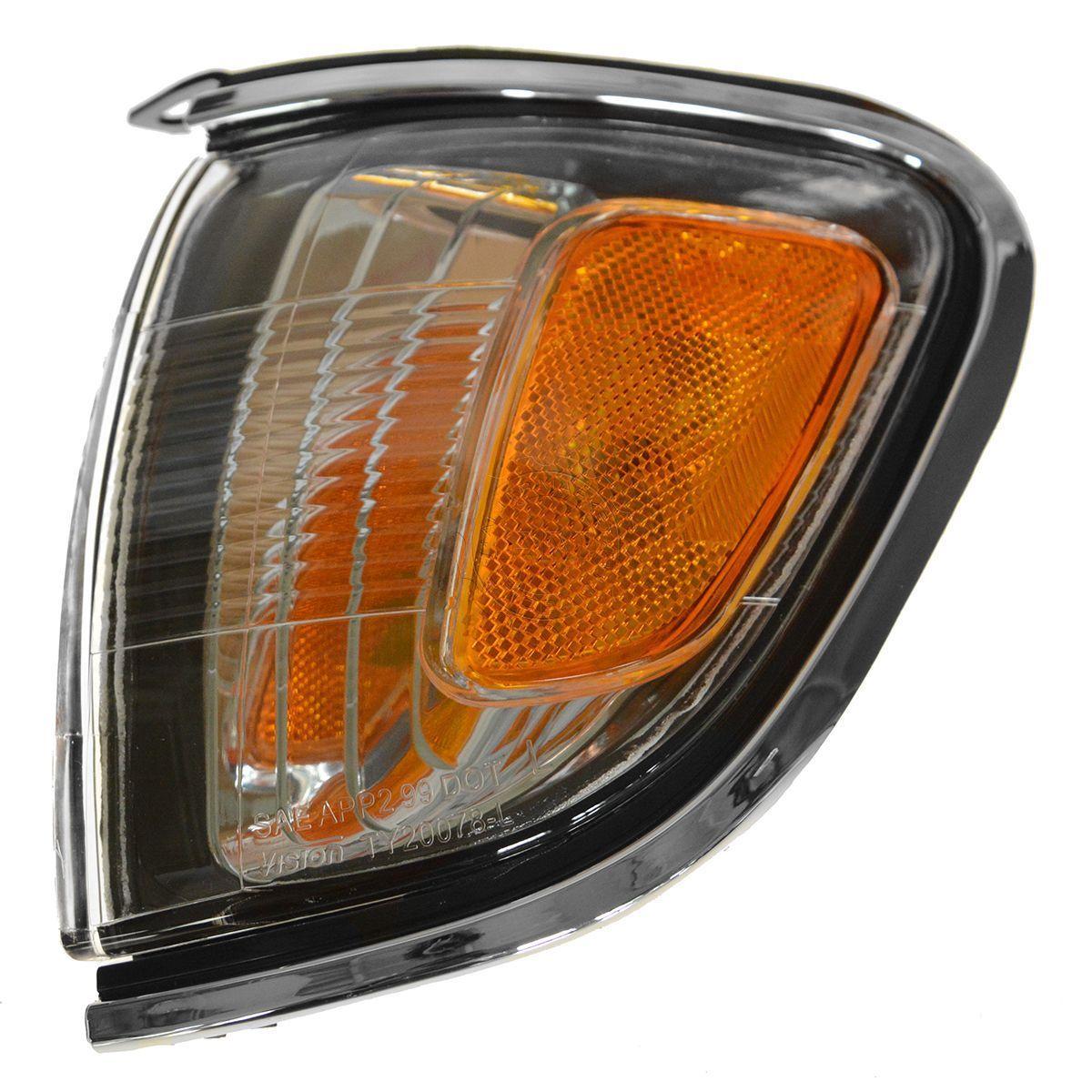 コーナーライト Left Corner Signal Parking Light w/ Chrome Trim for 01-04 Tacoma Pickup Truck 左コーナー信号パーキングライト付きクロムトリム01-04用タコマピックアップトラック用