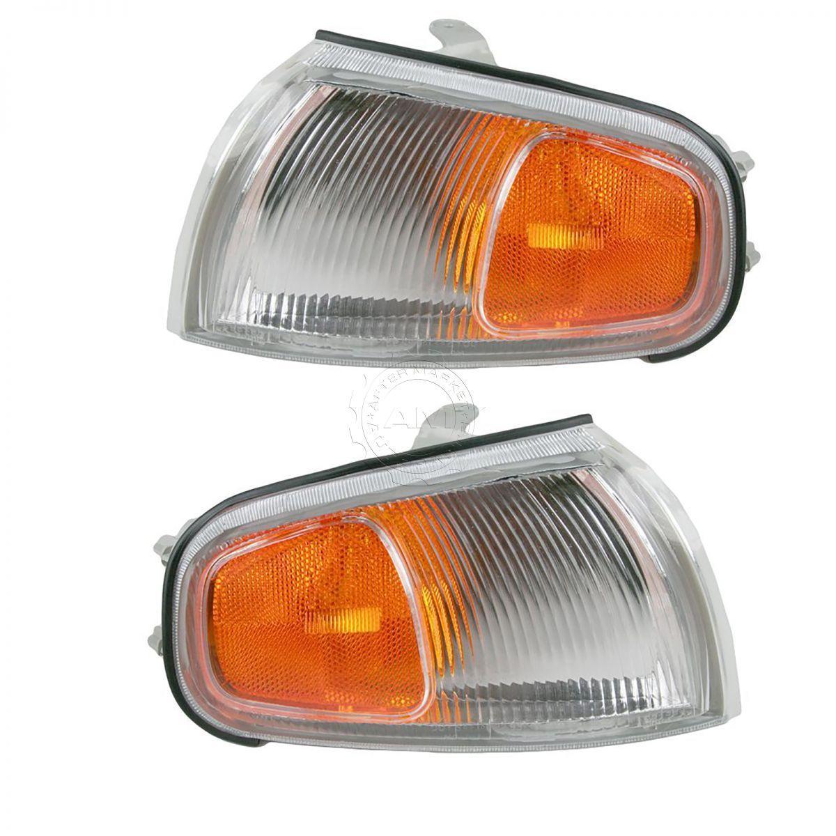 コーナーライト Side Marker Turn Signal Corner Parking Light Lamp Pair Set for 95-96 Camry サイドマーカーターン信号コーナー駐車ライトライトペアは95-96カムリに設定