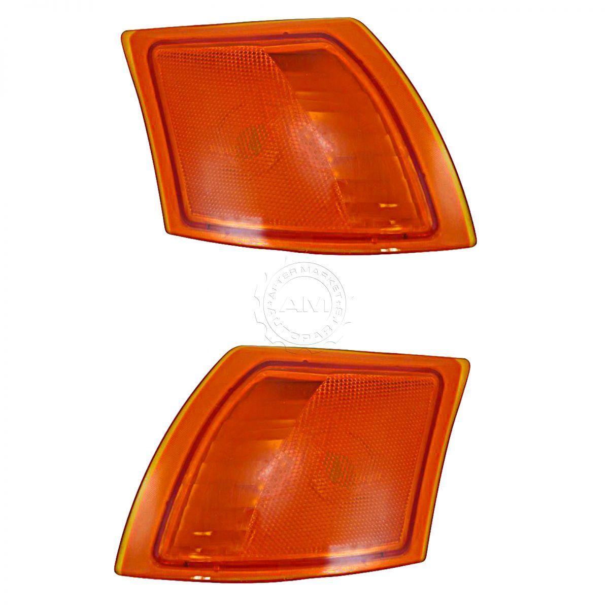 コーナーライト Side Corner Marker Parking Turn Signal Light Front Pair Set for 02-07 Saturn Vue サイドコーナーマーカーパーキングターンシグナルライトフロントペア02-07サターンヴュー