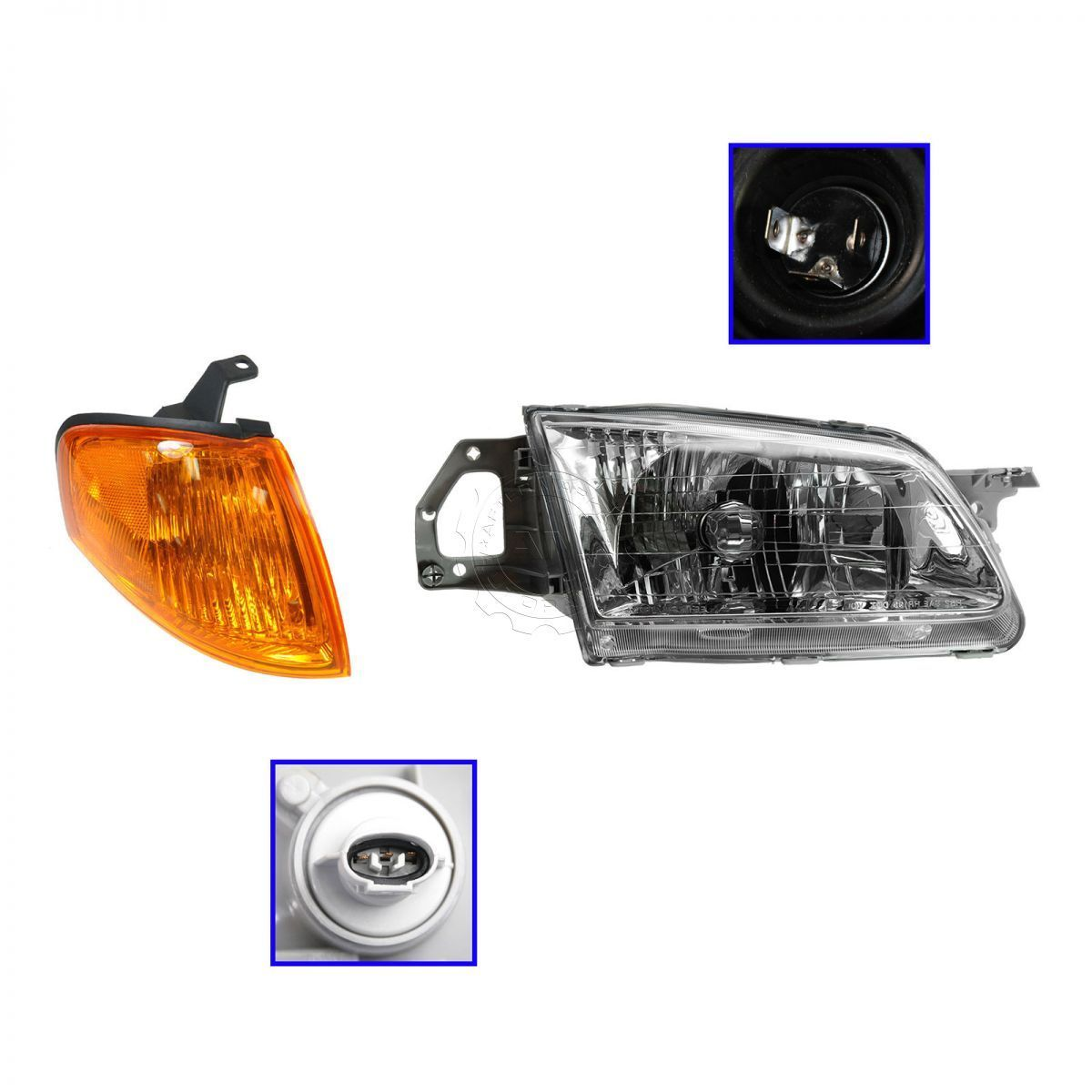 コーナーライト Headlight Lamp Corner Turn Signal RH Passenger Side for 99-00 Mazda Protege ヘッドライトランプコーナーターンシグナルRH 99-00マツダプロテーゼのための乗客側