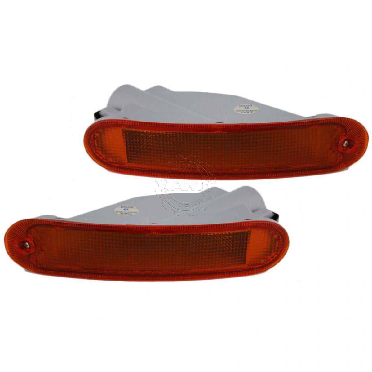 コーナーライト Side Marker Parking Light Pair for Dodge Avenger 1995 1996 ダッジ・アヴェンジャーのためのサイドマーカーパーキングライトペア1995