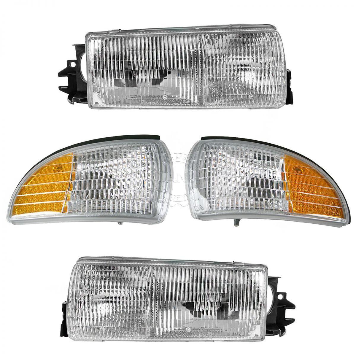 コーナーライト Headlight & Corner Light Kit Set for Roadmaster Caprice Impala Custom Cruiser ヘッドライト& Roadmaster Caprice Impalaカスタムクルーザーのコーナーライトキットセット