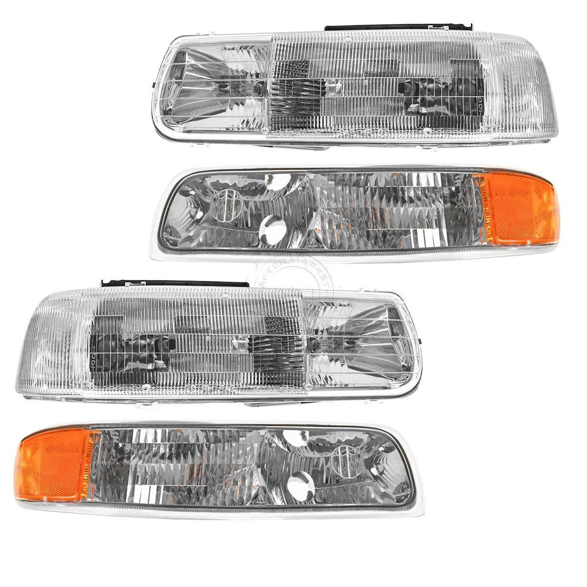 コーナーライト Headlight & Corner Parking Light Left & Right Set Kit for Chevy Truck Suburban ヘッドライト& コーナーパーキングライト左& Chevy Truck郊外の右セットキット
