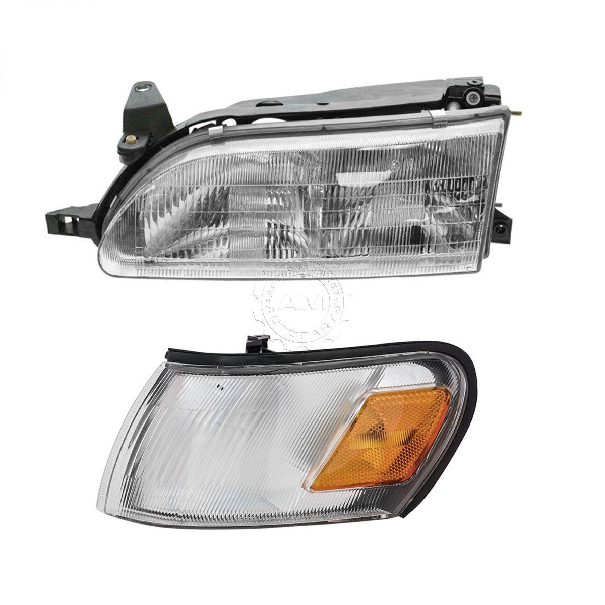 新品本物 コーナーライト Headlight Headlamp & Parking Corner Light Driver Side Left LH for 93-97 Corolla ヘッドライトヘッドランプ& 93-97カローラのパーキングコーナーライトドライバサイドLH, 雑貨温泉 fb0089b8