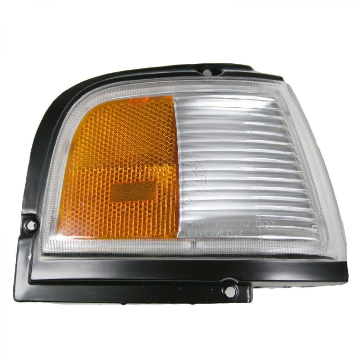コーナーライト Black Turn Signal Light w/ Black Trim Right Passenger for 87-96 Cutlass Ciera 黒いターンシグナルライト(黒いトリム右乗客87-96カトラスシエラ用)