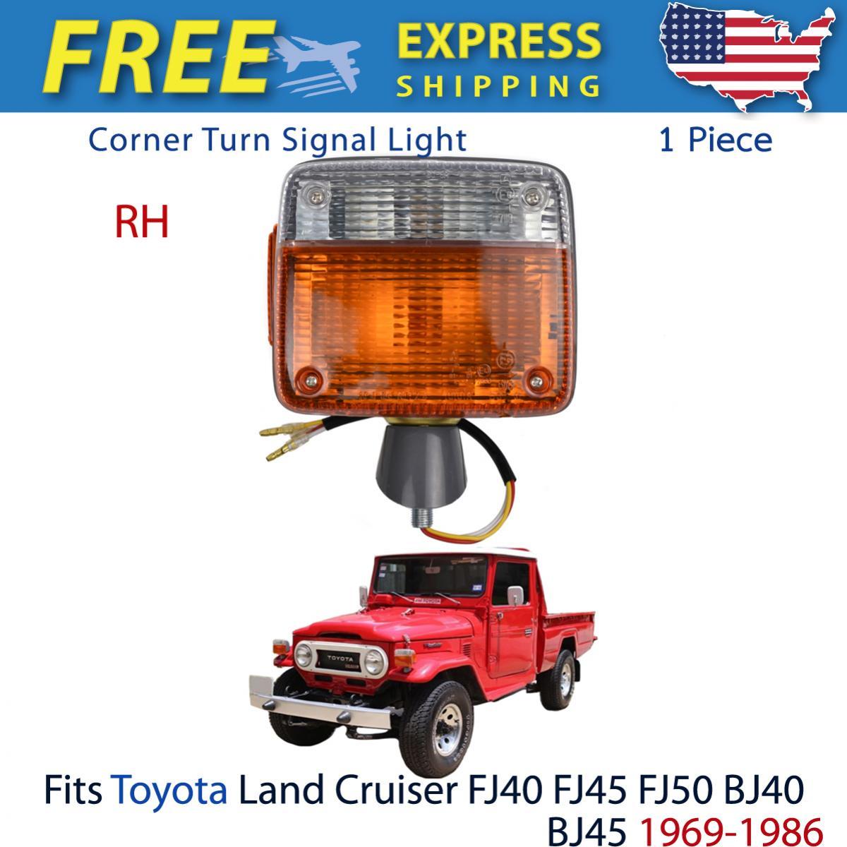 コーナーライト Right Corner Turn Signal Light Lamp Fits Toyota Land Cruiser FJ40 BJ40 1869-1986 トヨタランドクルーザーFJ40 BJ40 1869-1986に適合するライトコーナーターンシグナルランプ