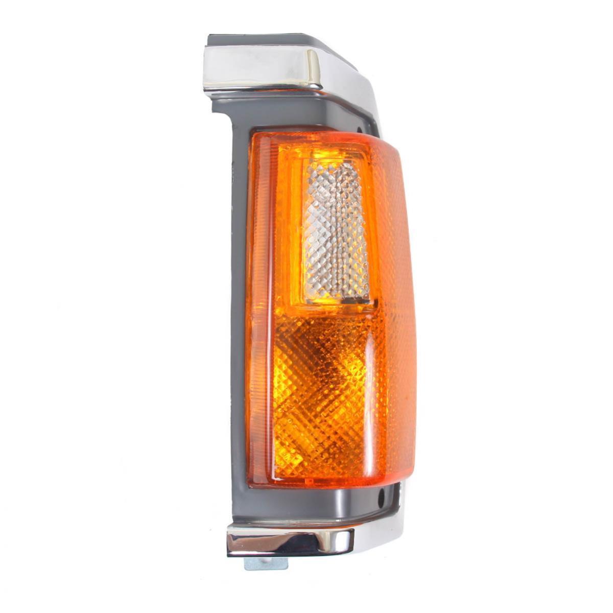 コーナーライト Corner Lights Lamp Chrome/Black Left Fits Nissan Big-M Navara Truck 1986-1990 コーナーライトランプクロム/ブラック左フィット日産ビッグMナバラトラック1986-1990