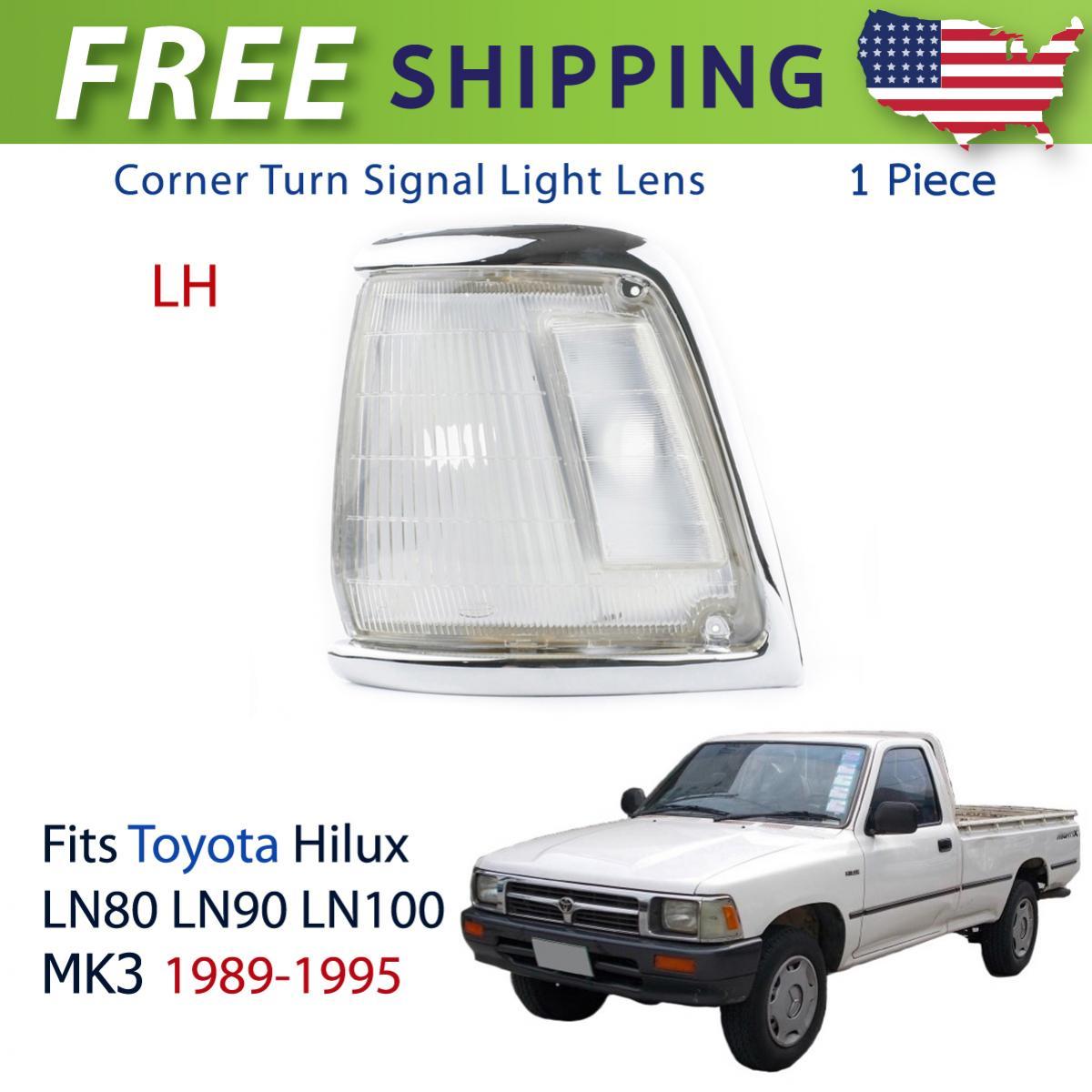 コーナーライト Left Corner Lights Turn Lamp Clear Fits Toyota Hilux LN85 LN90 Pickup 1989-1994 トヨタハイラックスLN85 LN90ピックアップ1989-1994にフィットする左コーナーライトターンランプクリア