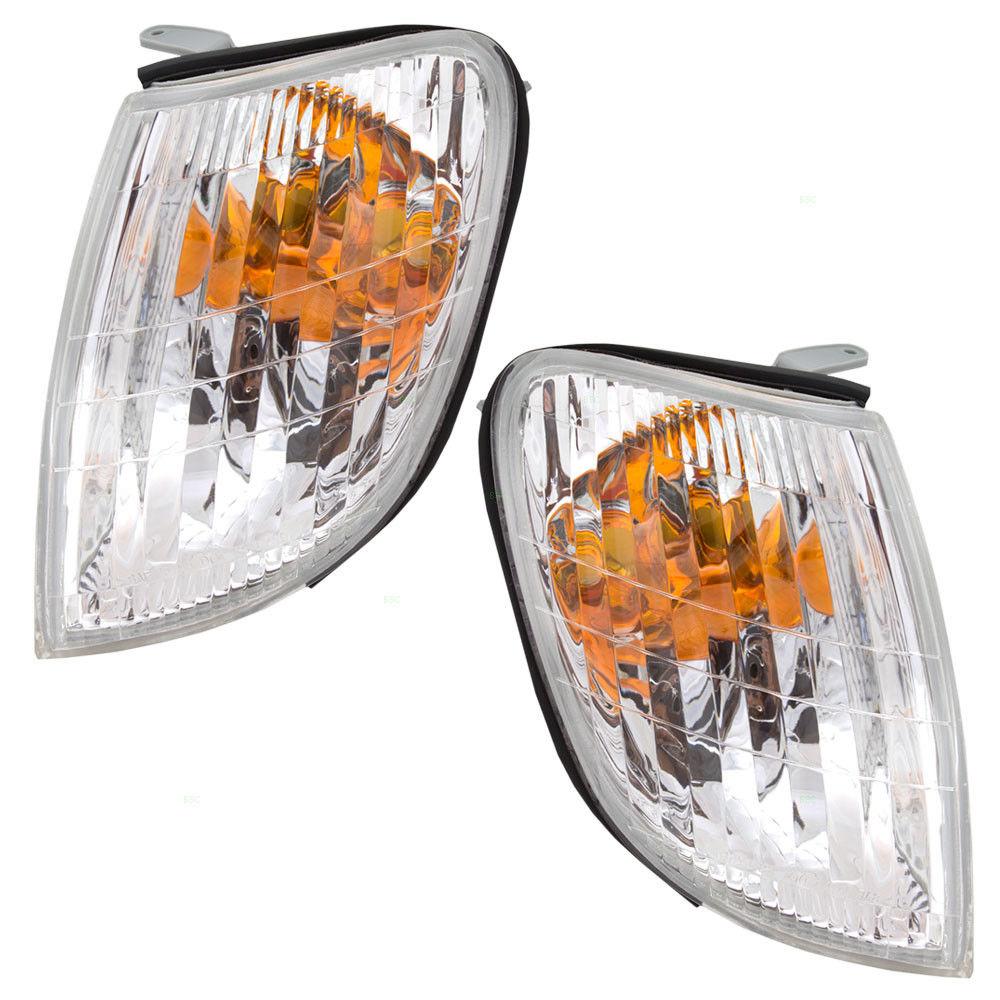 コーナーライト New Pair Set Park Signal Corner Marker Light Lamp Unit for 98-00 Lexus LS400 98-00 Lexus LS400用の新しいペアセットパーク信号コーナーマーカーライトランプユニット