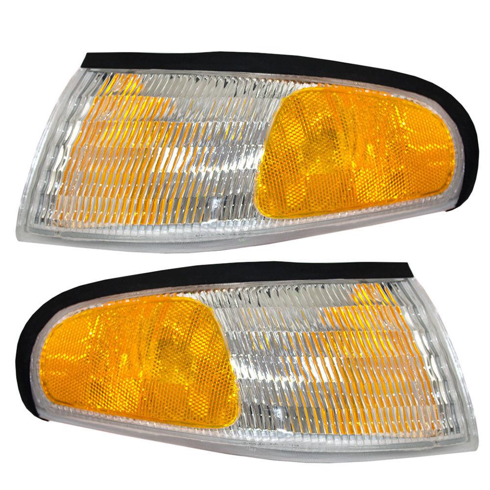 コーナーライト New Pair Set Park Signal Corner Marker Light Lamp Assembly 94-98 Ford Mustang 新しいペアセットパーク信号コーナーマーカーライトランプアセンブリ94-98フォードマスタング