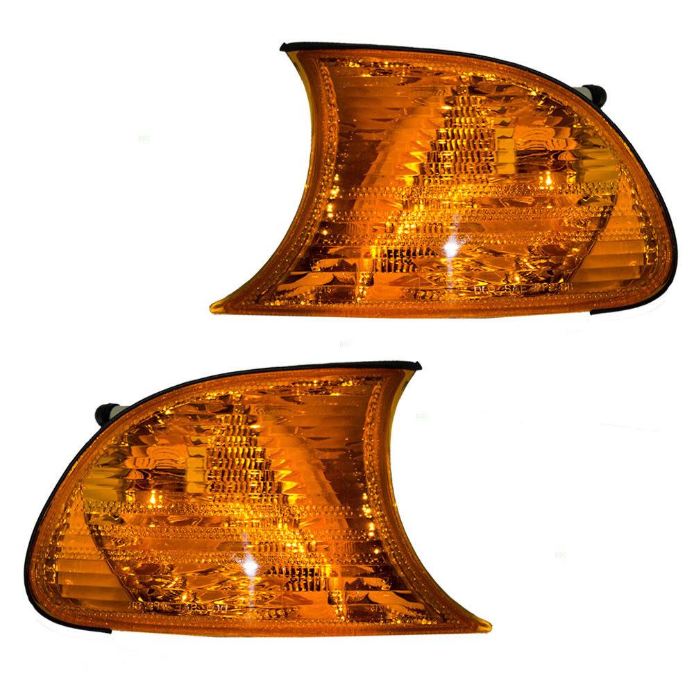 コーナーライト New Pair Set Park Signal Corner Marker Light Amber Lamp DOT 99-01 BMW 3 Series 新しいペアセットパーク信号コーナーマーカーライトアンバーランプDOT 99-01 BMW 3シリーズ