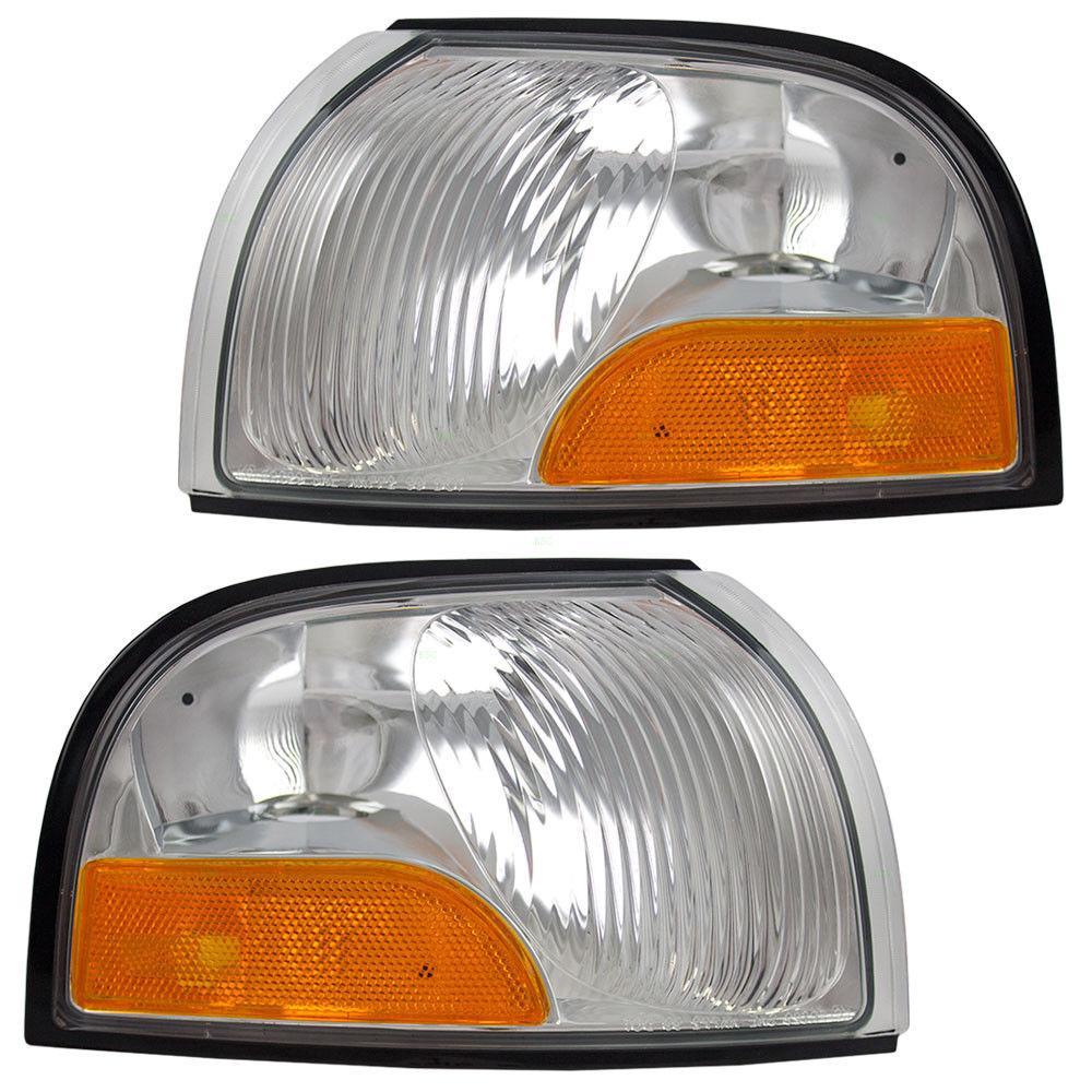 コーナーライト New Pair Set Park Signal Corner Marker Light for Nissan Quest Mercury Villager 日産クエストマーキュリービレッジのための新しいペアセットパーク信号コーナーマーカーライト