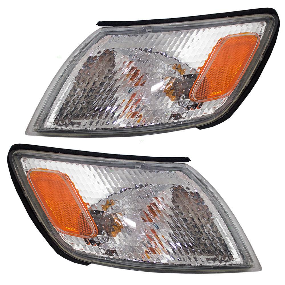 コーナーライト New Pair Set Signal Corner Marker Light Lamp Lens Assembly for 97-99 Lexus ES300 97-99 Lexus ES300用の新しいペアセット信号コーナーマーカーライトランプレンズアセンブリ