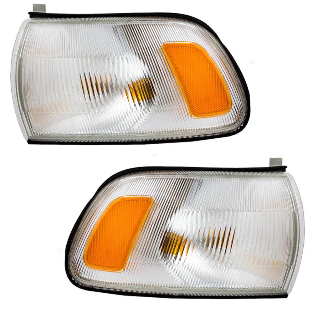 コーナーライト New Pair Set Park Signal Corner Marker Lamp Assembly for 91-97 Toyota Previa 91-97トヨタプレビアの新しいペアセットパーク信号コーナーマーカーランプアセンブリ