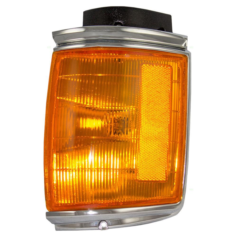 コーナーライト New Passengers Park Clearance Light Lamp Chrome Trim for 87-88 Toyota Pickup 2WD 新しい乗客パーククリアランスライトランプクロムトリム87-88用トヨタピックアップ2WD