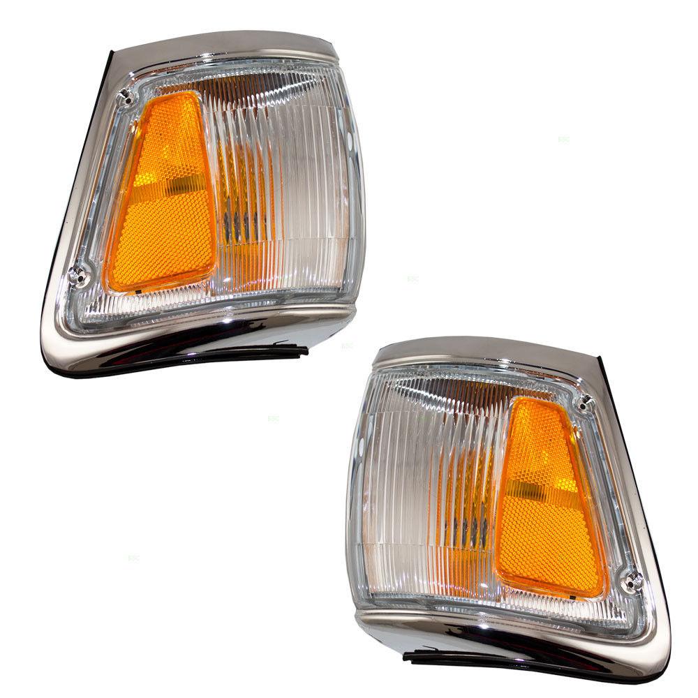 Chrome Corner Parking Light Pair for 92-95 Toyota 4Runner