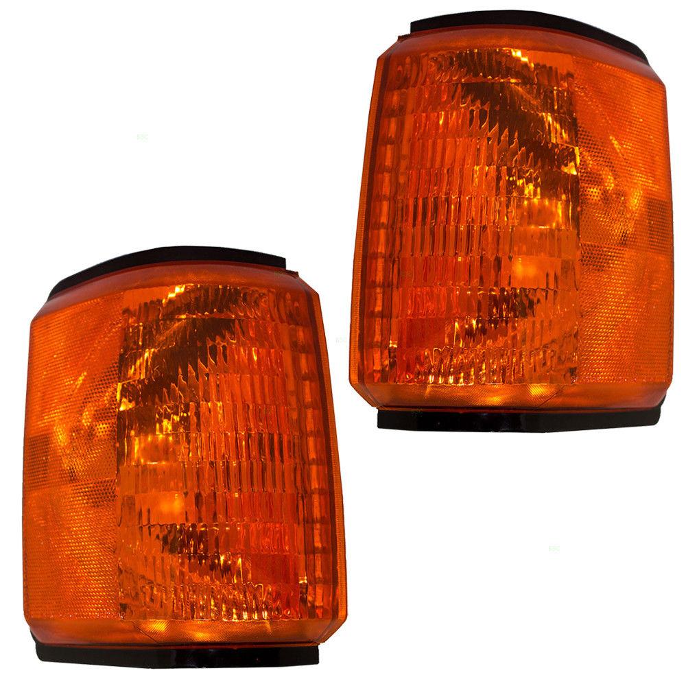 コーナーライト New Pair Set Park Signal Marker Light Lamp Assembly DOT 87-91 Ford Pickup Truck 新しいペアセットパークシグナルマーカーライトランプアセンブリDOT 87-91フォードピックアップトラック