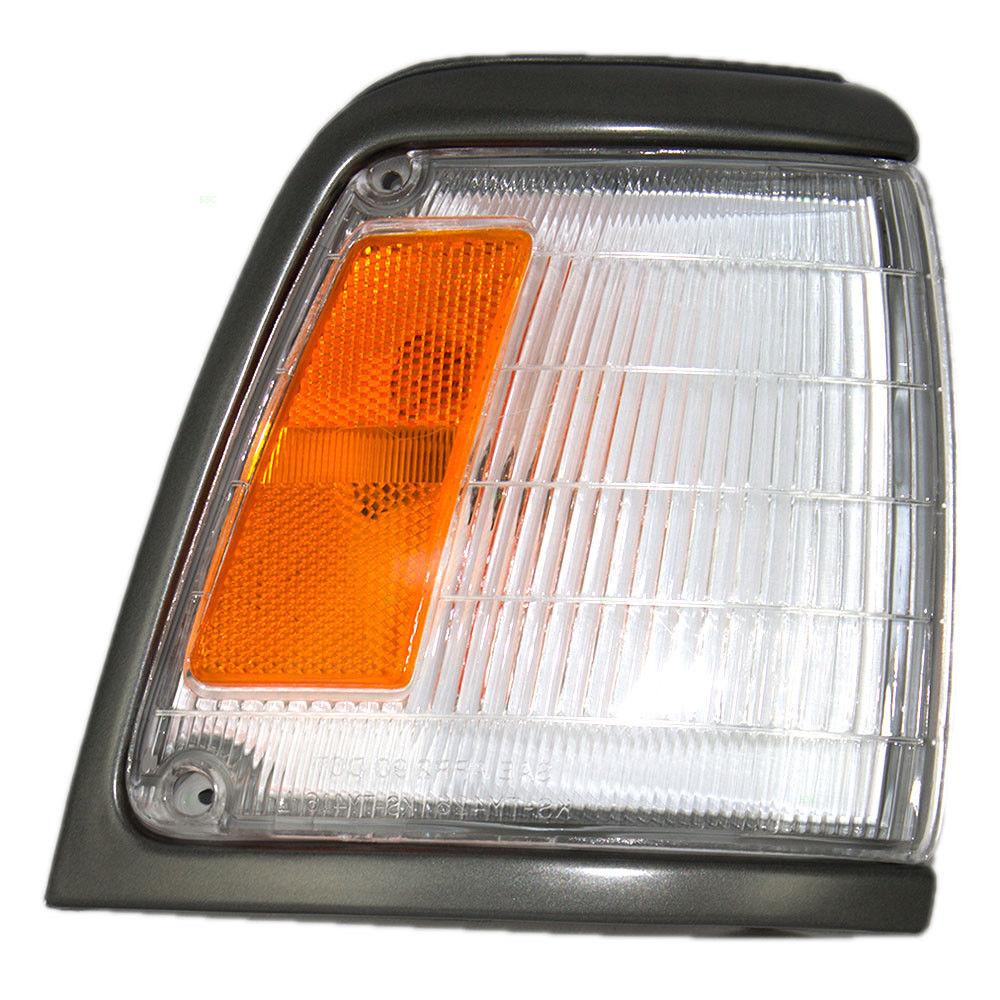 コーナーライト New Passengers Park Clearance Light Lamp Grey Trim for 92-95 Toyota Pickup 2WD トヨタピックアップ2WD用新型乗用車パーククリアライトライトグレートリム