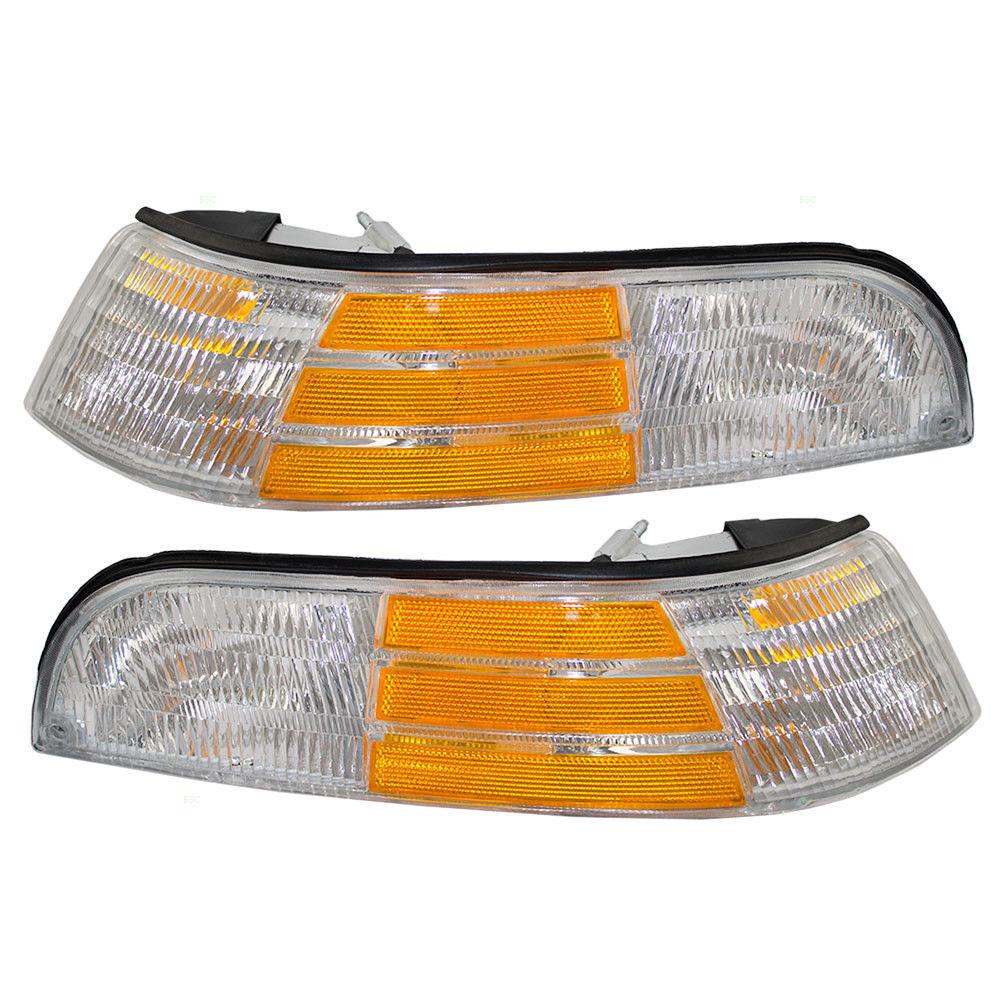 コーナーライト New Pair Set Park Signal Marker Light Lamp DOT 92-97 Ford Crown Victoria 新しいペアセットパーク信号マーカーライトランプDOT 92-97 Ford Crown Victoria
